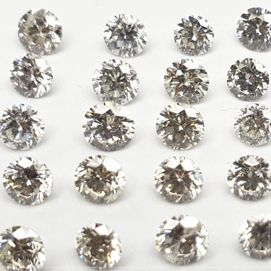 Round shape loose Lab Grown HPHT Diamond