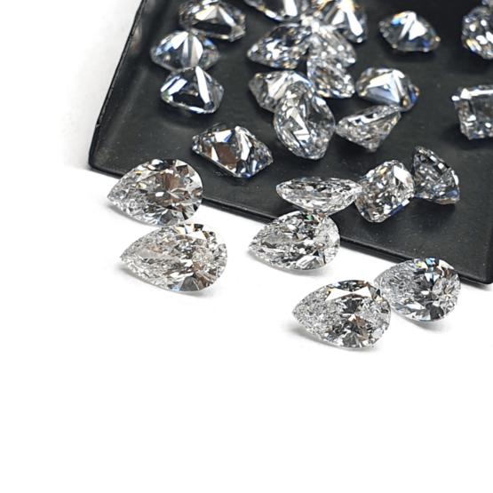 Pear Shape Lab Grown HPHT Diamond