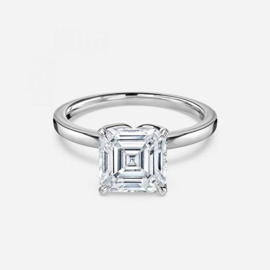 asscher cut diamond solitaire