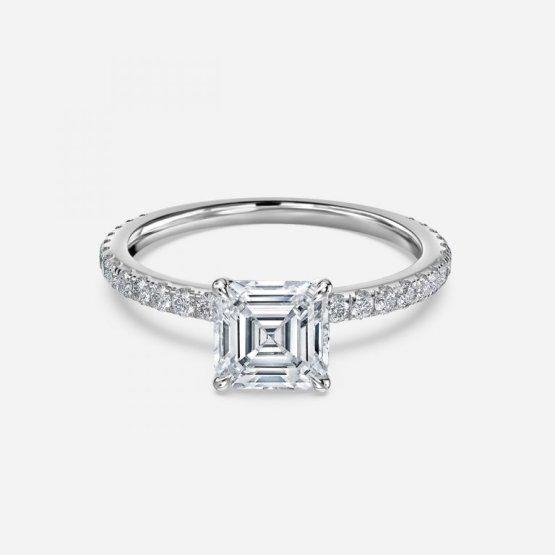asscher dainty ring