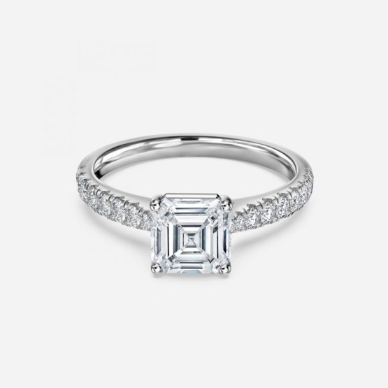 wedding bands for asscher-cut engagement rings